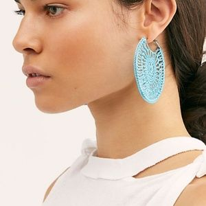 Free People Serefina Sunshine Hoop Earrings